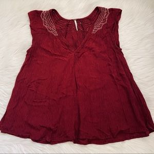 Anthropologie Free People Short Sleeve Top